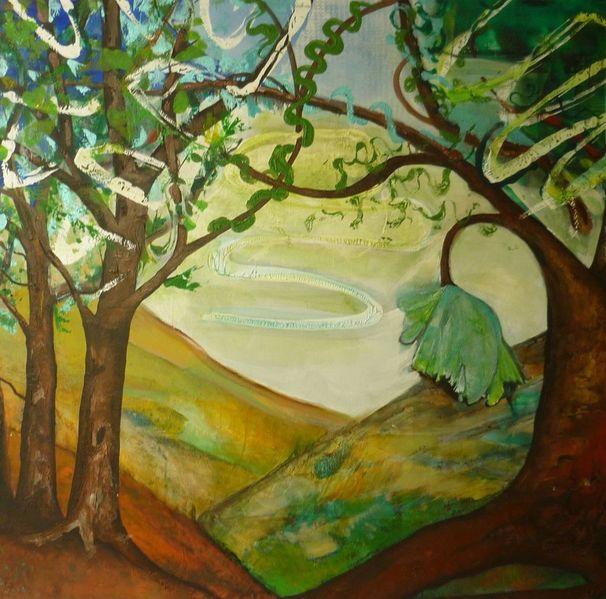 Schicht, Struktur, Naturgewalten, Baum, Malerei