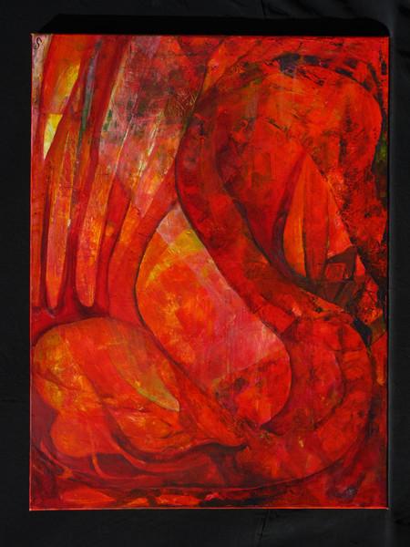 Elemente, Fluss, Vereinigung, Malerei, Abstrakt