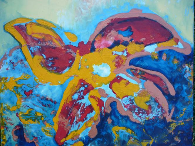 Blumen, Kraft, Natur, Malerei, Abstrakt