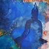 The Buddha, 2009 - mixed,buddha,frieden, presenz,blau