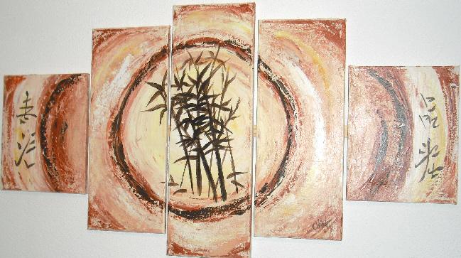 Abstrakt, Malen, Landschaft, Mehrteilig, Gemälde, Ambiente