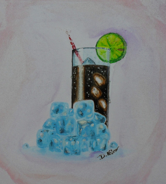 Cola, Zitrone, Eiswürfel, Durst, Glas, Kalt
