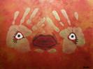 Blick, Augen, Abstrakt, Malerei