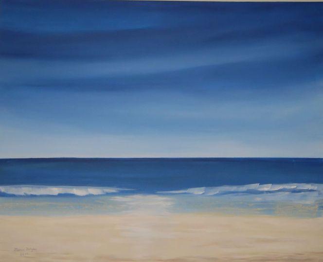 Weiß, Blick, Himmel, Landschaft, Wasser, Strand