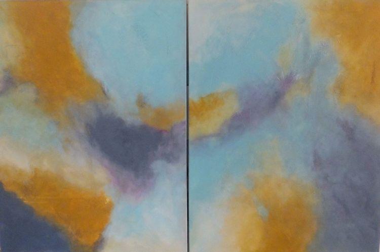 Acrylmalerei, Sinnlichkeit, Weiß, Fantasie, Ocker, Himmel