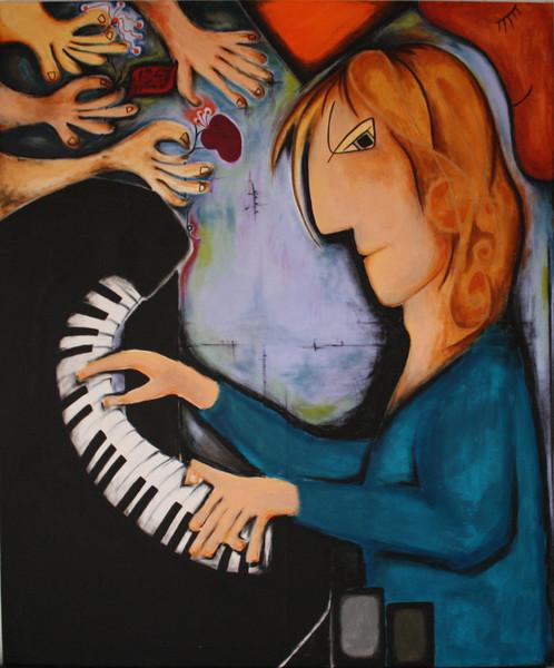 Malerei, Pianist