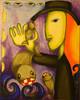 Malerei, Abstrakt, Fischer