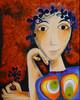 Malerei, Abstrakt, Frau