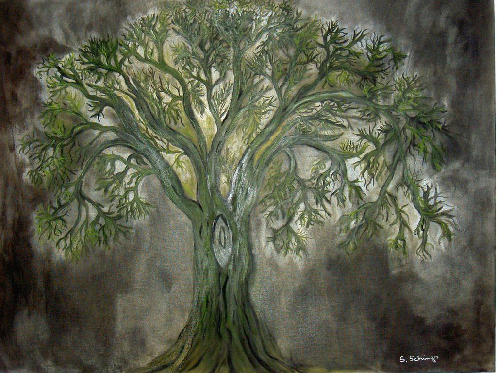 bild lebensbaum baum winter malerei von susanne schings bei kunstnet. Black Bedroom Furniture Sets. Home Design Ideas