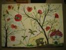 Garten, Zauber, Aquarellmalerei, Mohnblumen