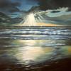 Wolken, Gemälde, Acrylmalerei, Meer