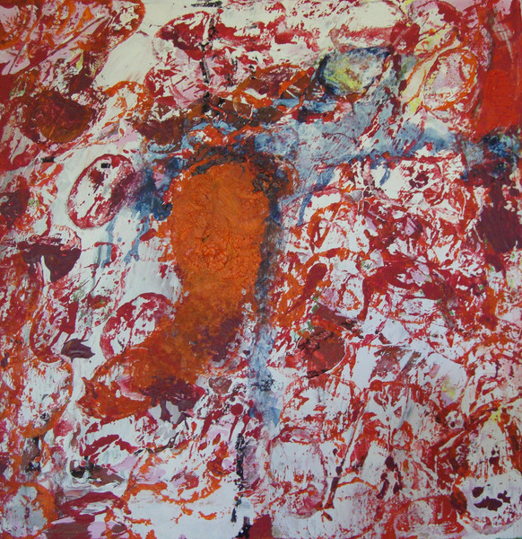 Orange, Blau, Rot, Malerei, Abstrakt,