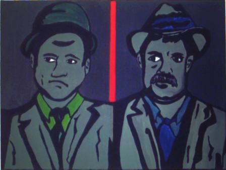 Acrylmalerei, Malerei, Vanzetti, Portrait, Sacco
