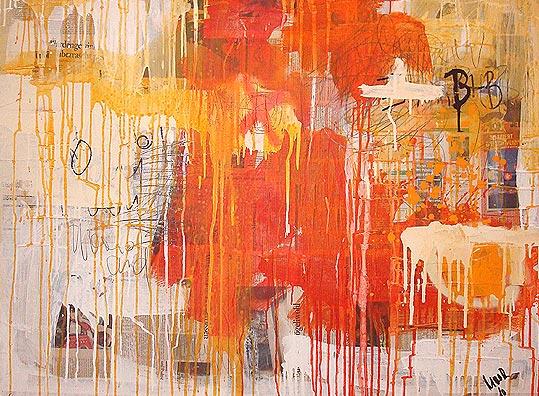 Taught, Modern, Gemälde, Assemblage, Mixed media, Ölmalerei