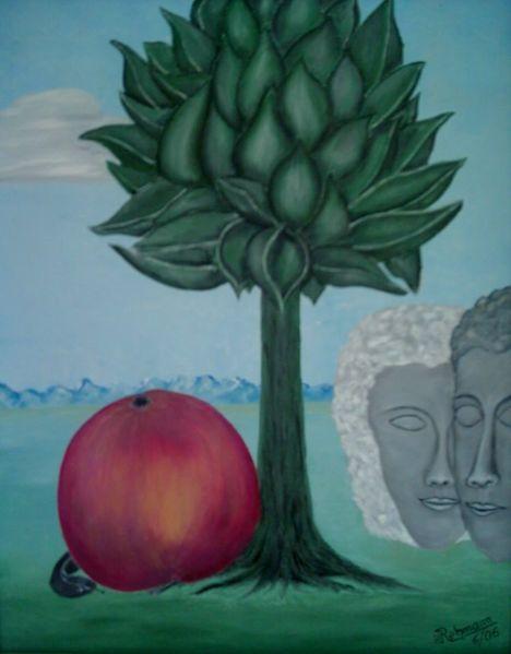 Adam und eva, Apfel, Der anfang, Malerei, Anfang