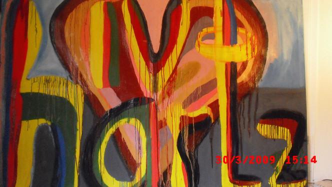 Herz, Rückseite, Hartz, Ölmalerei, Malerei,