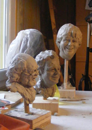 Atelier, Schatten, Gesicht, Skulptur, Schnitt, Dynamik