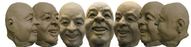 Entsetzen, Geschenk, Kopf, Freude, Portrait, Skulptur