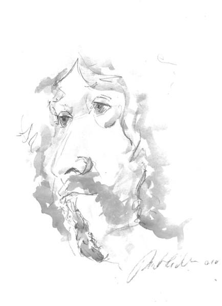 Portrait, Gesicht, Blei, Kopf, Spieler, Bleistiftzeichnung