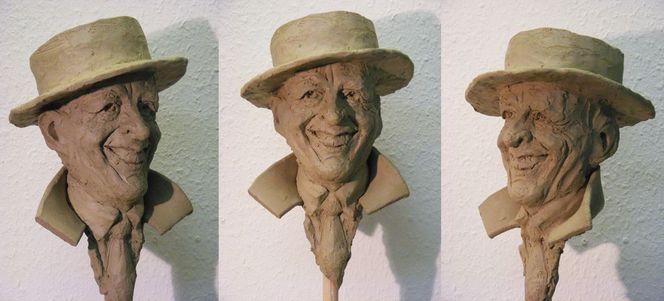 Werkstatt, Stolz, Keramik, Einzelkämpfer, Gesicht, Skulptur