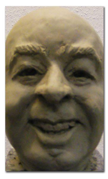 Wahnsinn, Bronze, Figural, Skultur, Büste, Gesicht