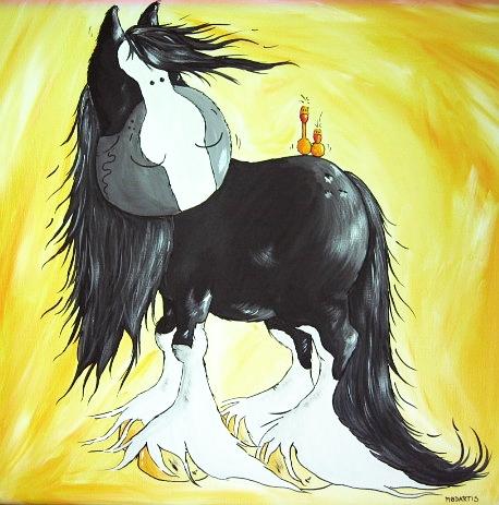 Pferde, Shire, Kaltblut, Malerei, Tiere