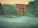 Wald, Fabrik, Landschaft, Malerei