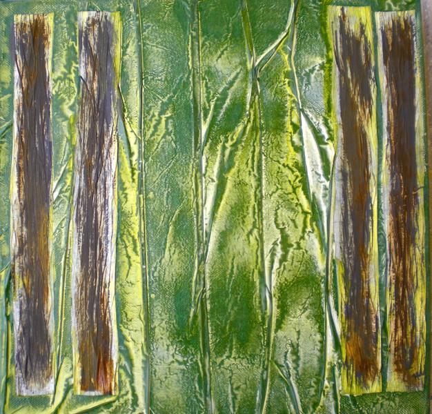 Acrylmalerei, Gelb, Lasurtechnik, Baum, Faltpapier, Di vora anneliese