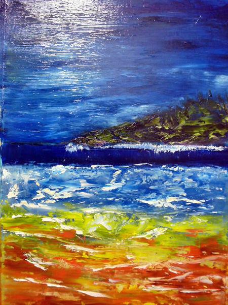 Di vora anneliese, Landschaft, Ölmalerei, Divo, Malerei, Einfache