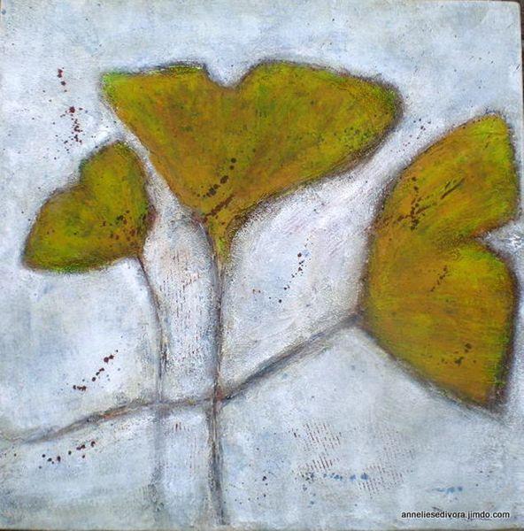 Pastellmalerei, Altweibersommer, Mygall, Ginko, Koko2012, Divoart
