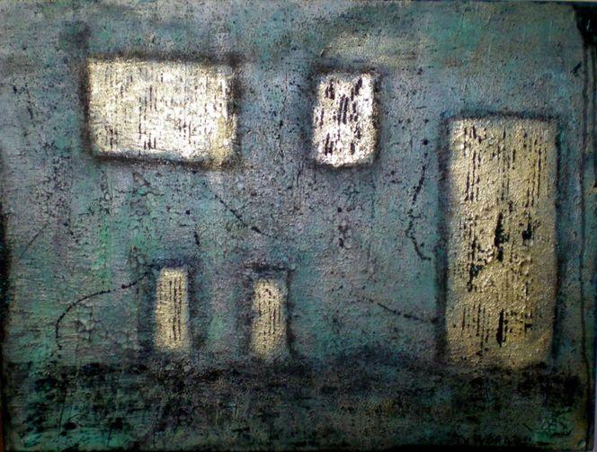Gebäude, Divoart, Türkisgrün, Haus, Koku2012, Hell erleuchtet