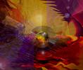 Digitale malerei, Universum, Bewegung, Licht