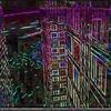 Dunler hintergrund, Großstadt, Hochhaus, Kontrast