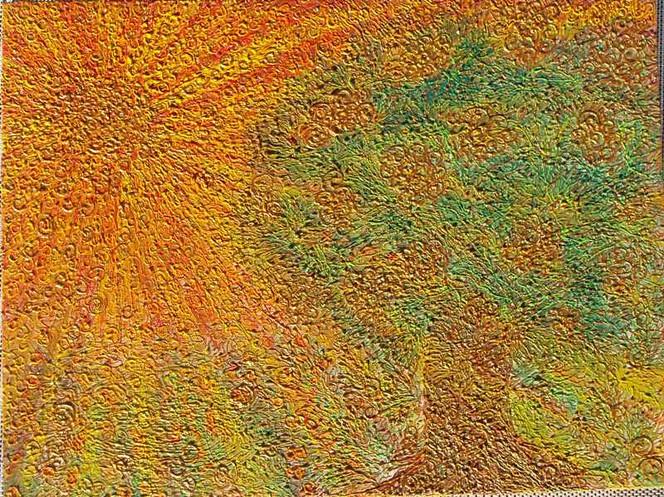 Orange, Sonnenstrahlen, Struktur, Skulptur, Relief, Sonne