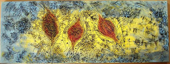 Struktur, Hellblau, Blätter, Abstrakt, Gelb, Herbst