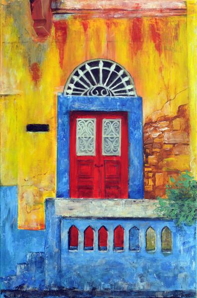 Altes haus, Farben, Tür, Griechenland, Malerei, Architektur