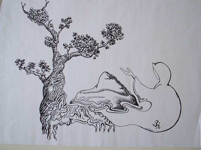 Insel, Schweben, Anderswelt, Zeichnungen