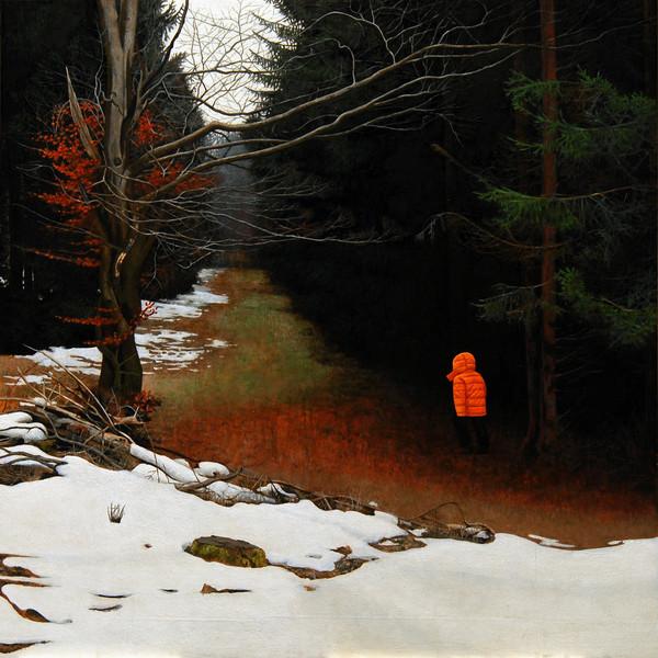 Menschen, Malerei, Realismus, Acrylmalerei, Figur, Landschaft