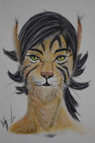 Kralle, Zähne, Katze, Augen, Fantasie, Zeichnuung