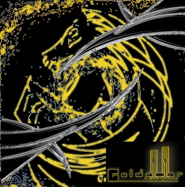 Modern, Pferd mit flügel, Gold, Stil, 2011, Pegasusc