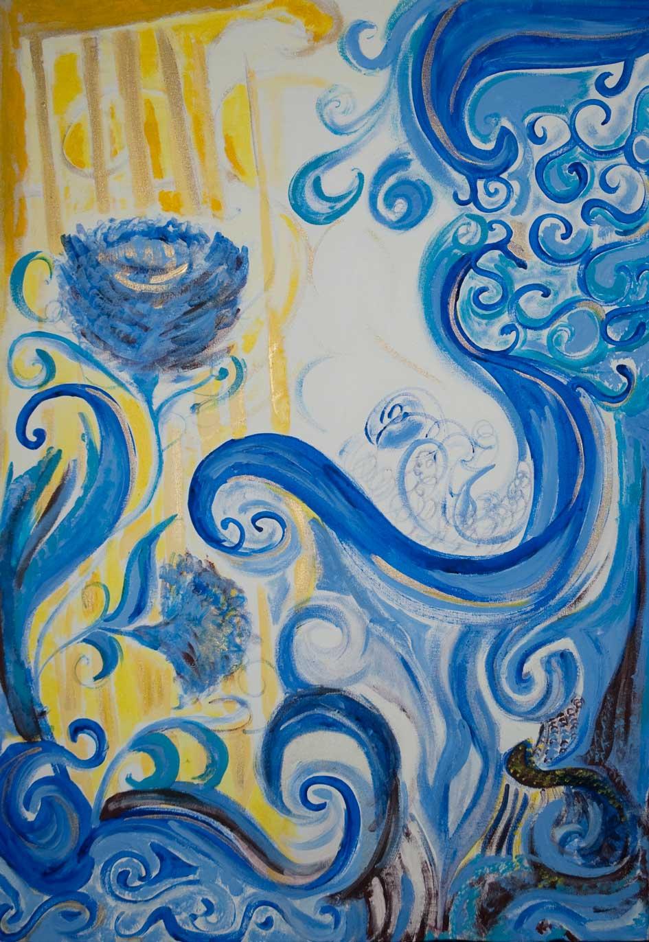 Blaue blumen maria di martino