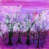 Wald, Baum, Acrylmalerei, Landschaft