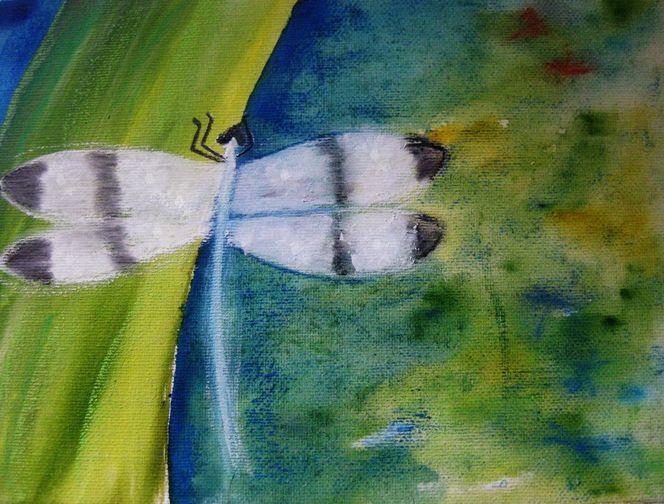 Libelle, Aquarell, Aquarellmalerei