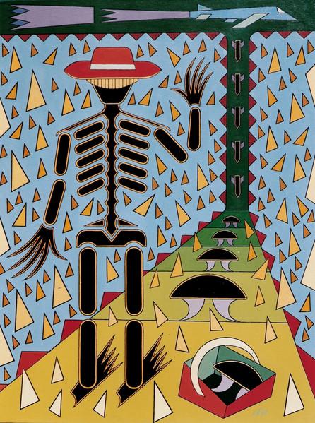 Atom, Menschen, Ölmalerei, Abstrakt, Pilze, Kunstwerk