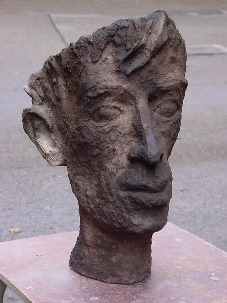Portrait, Keramik, Erdbrand, Maske, Kopf, Plastik