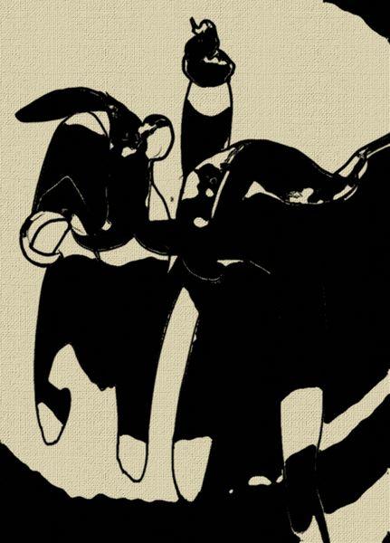 Schwarz, Traum, Zeichnungen, Abstrakt