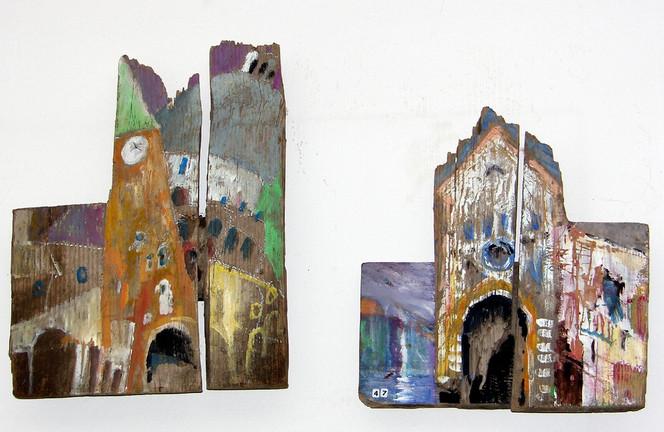 Venedig, Treibgut, Tür, Malerei