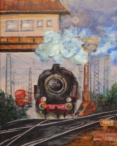 Lokomotive, Stellwerk, Dampflok, Eisenbahn, Lok, Bahnhof