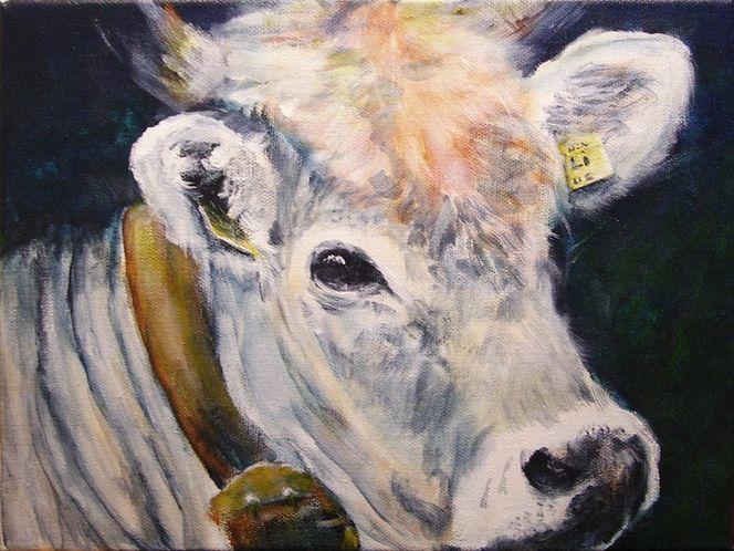 Rind, Kuh, Vieh, Malerei, Tiere,