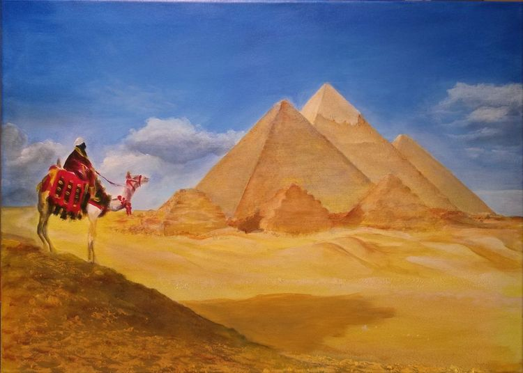 Sand, Wüste, Pyramide, Gizeh, Kamel, Ägypten